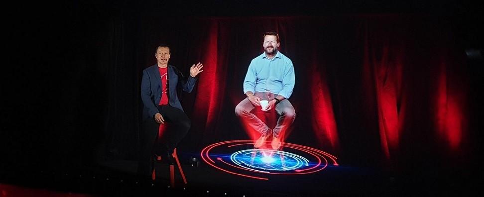 Holografický hovor na filmovém festivalu v Karlových Varech