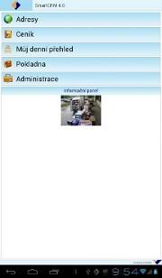 Screenshot z menu SmartCRM