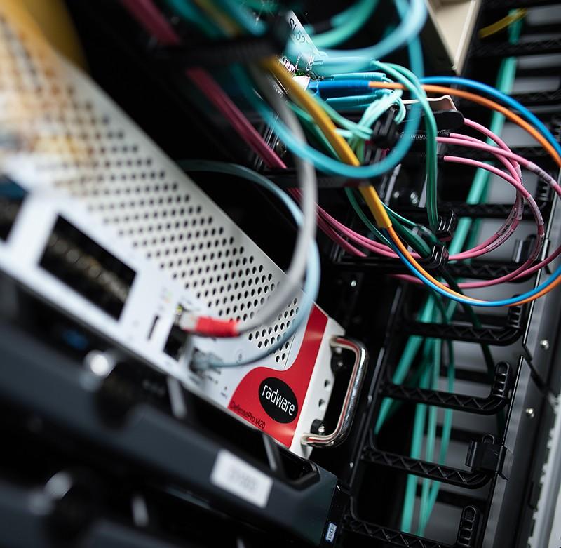 Obrázek serveru s Radware ochranou