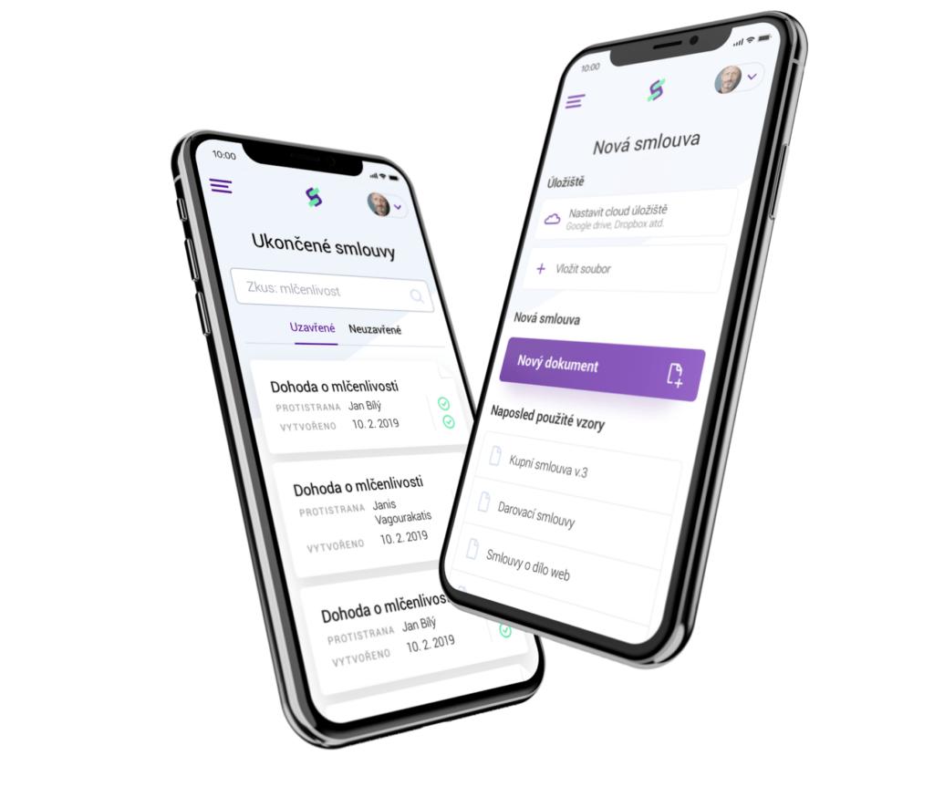 iSmlouva v mobilní verzi