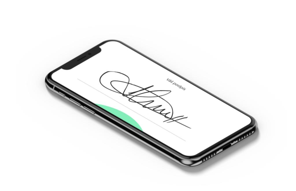 Ukázka podpisu v aplikaci iSmlouva
